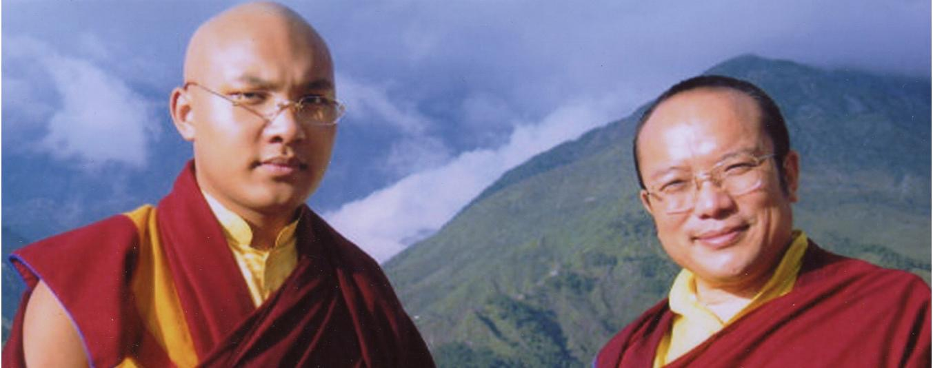 His Holiness 17th Karmapa Ogyen Trinley Dorje and His Eminence 12th Chamgon Kenting Tai Situpa